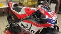 Tampilan Ducati Desmosedici GP17 untuk MotoGP 2017 yang bocor ke publik. (Instagram)