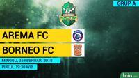 Jadwal Piala Gubernur Kaltim, Arema FC Vs Pusamania Borneo FC. (Bola.com/Dody Iryawan)
