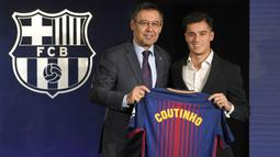 Philippe Coutinho didatangkan dari Liverpool menuju Barcelona dengan mahar 142 juta poundsterling atau setara dengan Rp2,8 triliun. Hal tersebut membuatnya tercatat sebagai pemain dengan nilai transfer termahal di Liga Spanyol. (Foto: AFP/Lluis Gene)