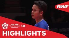 Berita video match highlights BWF World Tour Final 2019 antar Chen Long melawan Anthony Ginting pada babak penyisihan, Kamis (12/12/2019).