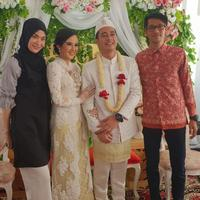 Pernikahan Eza Gionino dan Meiza Aulia. (Foto: instagram.com/dahlia.fy)