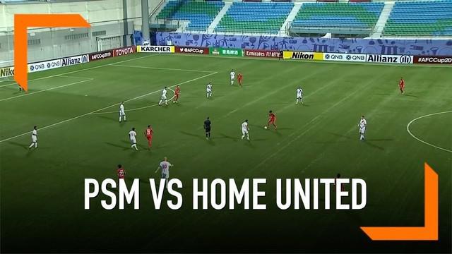 PSM Makassar mencuri angka pada lawatan ke markas Home United di penyisihan Grup H Piala AFC 2019.