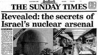 Artikel surat kabar yang menguak pengembangan senjata nuklir Israel (The Sunday Times)
