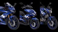 Tiga model Yamaha menggunakan livery MotoGP 2018. (ist)