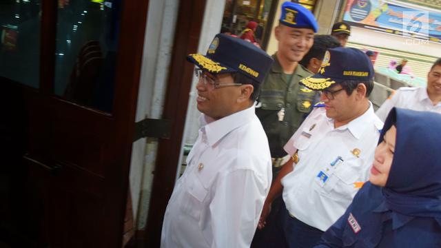 Sidak Menhub di Stasiun Tawang Semarang