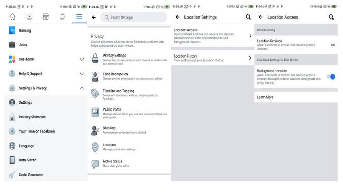 Cara setop pelacakan lokasi oleh aplikasi Facebook di Android (Foto: Ubergizmo)