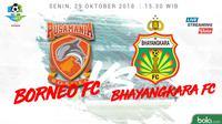 Liga 1 2018 Pusamania Borneo FC Vs Bhayangkara FC (Bola.com/Adreanus Titus)