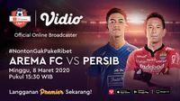 Saksikan Big Match Shopee Liga 1 2020 Antara Arema FC VS Persib Hanya di Vidio. sumberfoto: Vidio