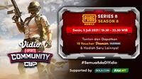 Live streaming Vidio Community Cup PUBG Series 8 dapat disaksikan melalui platform Vidio, laman Bola.com, dan Bola.net. (Dok. Vidio)