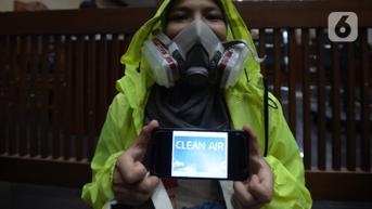 FOTO: Aksi Menuntut Hak Udara Bersih