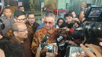 Dirut nonaktif PLN Sofyan Basir di KPK, Senin (6/5/2019). (Liputan6.com/Nanda Perdana Putra)