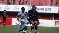 Uji coba PSS vs PSIS di Stadion Maguwoharjo, Sleman, Minggu (27/8/2018). (Bola.com/Ronald Seger Prabowo)