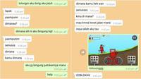 Chat ngeprank teman (Sumber: Twitter: olliiin_)