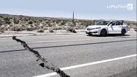 Banner Gempa California, Amerika Serikat (Liputan6.com/Triyasnni)