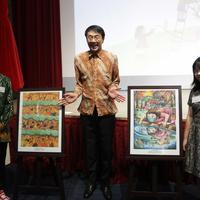 Dua Anak Indonesia Menang Lomba Lukis di Jepang