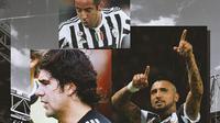 Juventus - Marcelo Salas, Mauricio Isla, Arturo Vidal (Bola.com/Adreanus Titus)