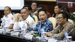 Suasana Rapat Pleno Khusus Lembaga Pengkajian MPR di Gedung Nusantara V, Senayan, Jakarta, Rabu (27/2/19). Rapat membahas mengenai pertahanan dan keamanan wilayah negara. (Liputa6.com/Joha Tallo)