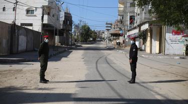FOTO: Tepi Barat dan Jalur Gaza Berlakukan Lockdown dan Jam Malam COVID-19
