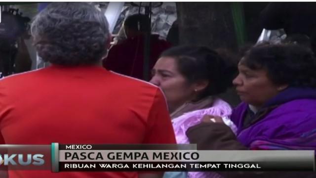 Gempa berkekuatan 7,1 skala richter yang melanda Meksiko ini menewaskan sedikitnya 300 orang, 180 diantaranya di Kota Meksiko.