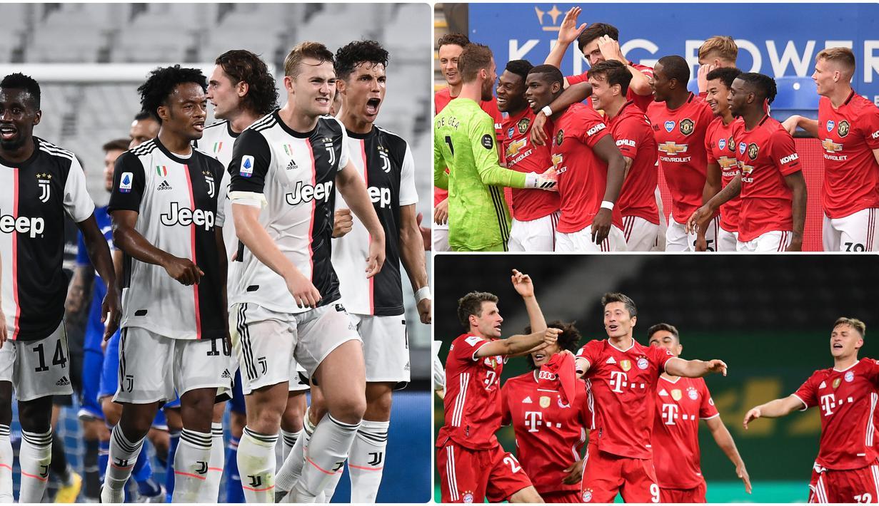 Juventus menjadi salah satu klub top Eropa memiliki catatan kebobolan paling sedikit pada abad ke-21. Selain juventus, Barcelona dan Manchester United juga memiliki catatan paling sedikit kebobolan. Berikut Juvetus dan 5 klub yang minim kebobolan di abad ke-21. (kolase foto AFP)