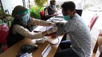 Vaksinasi Covid-19 di Gunungkidul. (Foto: Liputan6.com/Hendro Ary Wibowo)