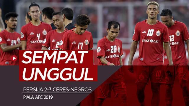 Berita video highlights Piala AFC 2019 antara Persija Jakarta melawan Ceres-Negros yang berakhir dengan skor 2-3 di SUGBK, Selasa (23/4/2019).