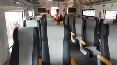 Penampakan Kereta Bandara (Ilyas/Liputan6.com)
