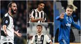 Pelatih Juventus, Andrea Pirlo, dikabarkan tidak lagi menginginkan keberadaan Aaron Ramsey di skuatnya musim depan. Selain Aaron Ramsey ada beberapa pemain yang sangat berpotensi untuk didepak oleh Pirlo. Berikut Ramsey dan bintang Juventus yang akan dilepas Pirlo. (kolase foto AFP)