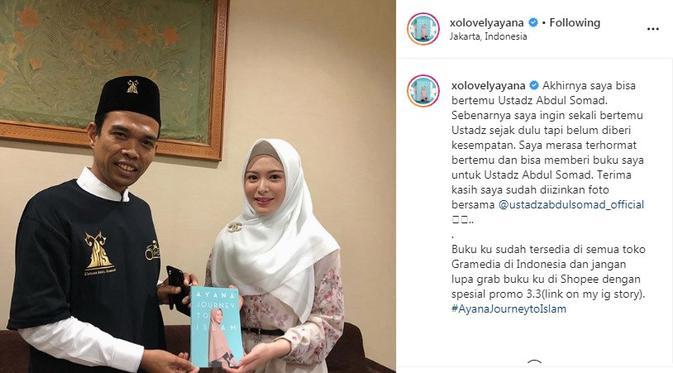 Ayana Jihye Moon - Ustaz Abdul Somad (Foto: Instagram/@xolovelyayana)