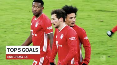 Berita video gol-gol terbaik yang terjadi pada pekan ke-14 Bundesliga 2020/2021, termasuk torehan indah dari Jadon Sancho dan Leroy Sane.