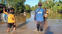 Banjir di Kabupaten Nunukan Kalimantan Utara, Jumat (28/5/2021). Foto Istimewa