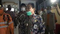 Bupati Banjarnegara, Budhi Sarwono Saat mengantar pasien sembuh Covid-19 Banjarnegara. (Foto: Liputan6.com/Tangkapan Layar Video/Muhamad Ridlo)
