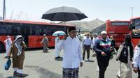 Menteri Agama (Menag) Lukman Hakim Saifuddin menyempatkan memeriksa langsung kondisi terakhir Terminal Syeib Amir di Makkah.Dok Bahauddin/MCH
