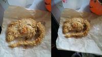 Mengaku memesan ayam KFC dan malah mendapatkan tikus goreng tepung.