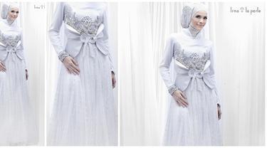 6 Gaun Pengantin Muslimah Elegan Beauty Fimela Com