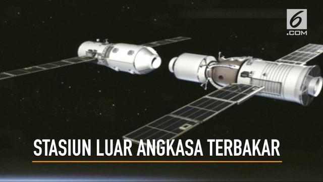 Stasiun luar angkasa China sudah memasuki atmosfer bumi dan terbakar habis sebelum jatuh di tengah-tengah wilayah Pasifik Selatan.