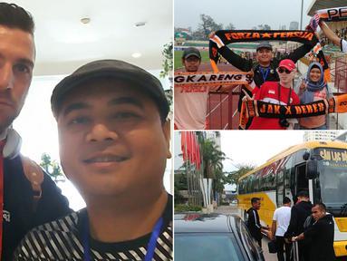 Berikut ini foto-foto keseruan The Jakmania saat mengikuti Persija Jakarta away ke Vietnam. Macan Kemayoran datang untuk laga Piala AFC melawang Song Lam Nghe An. (Kolase foto-foto Bola.com/Reza Khomaini)