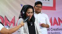 Puti Guntur Soekarno ternyata terampil bermain keyboard dan piano. (Liputan6.com/Dian Kurniawan)