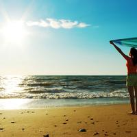 Ilustrasi di pantai