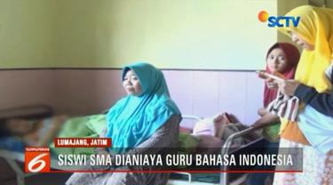 TD adalah korban penganiayaan yang dilakukan seorang guru Bahasa Indonesia di sekolahnya, salah satu sekolah menengah atas di Pronojiwo, Lumajang.