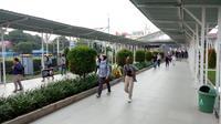 Suasana Stasiun Bogor setelah kejadian KRL anjlok. (Liputan6.com/Achmad Sudarno)