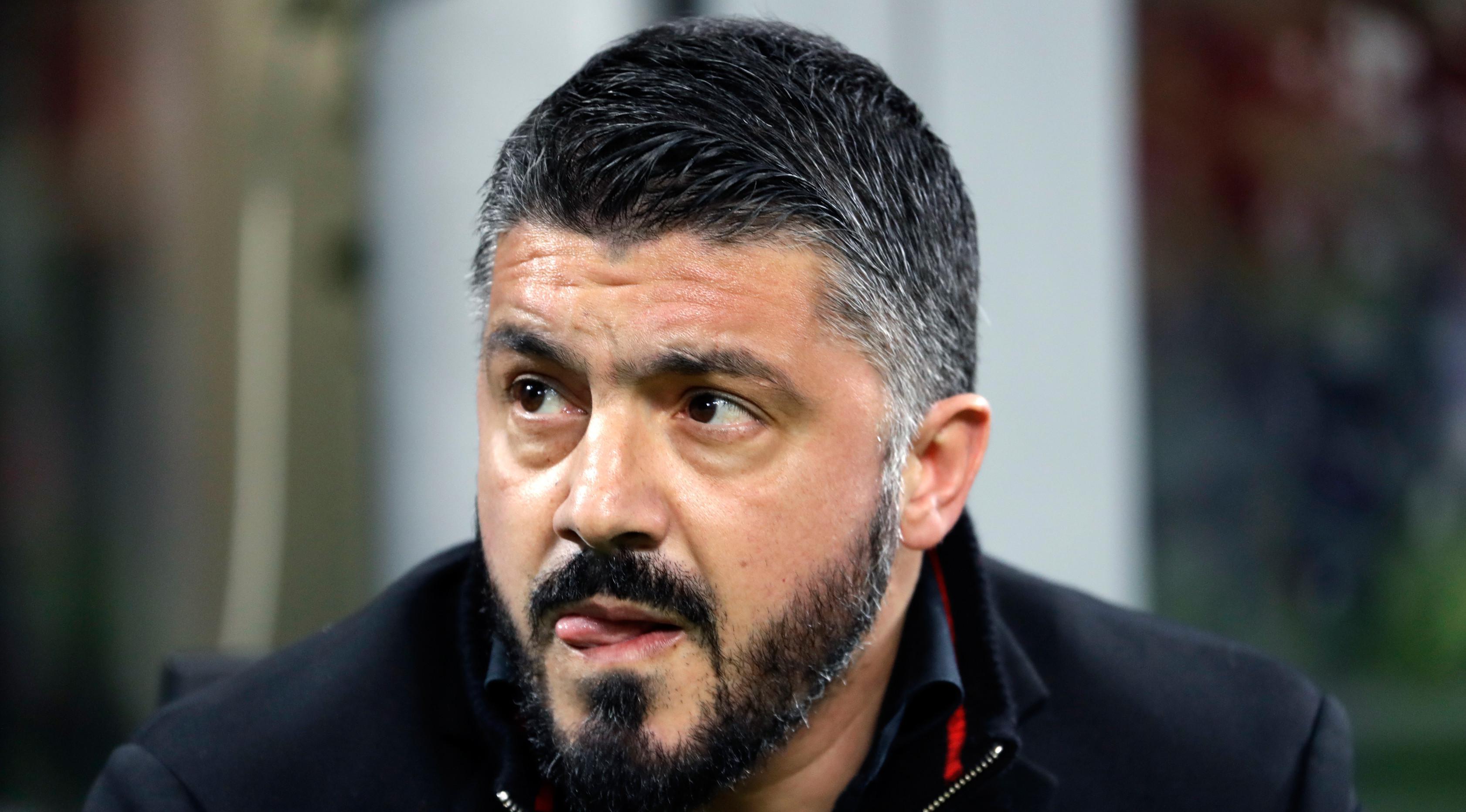 Pelatih AC Milan, Gennaro Gattuso (AP Photo/Luca Bruno)