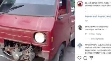 Pikap Ini Dioplos Mesin Suzuki Shogun (instagram)