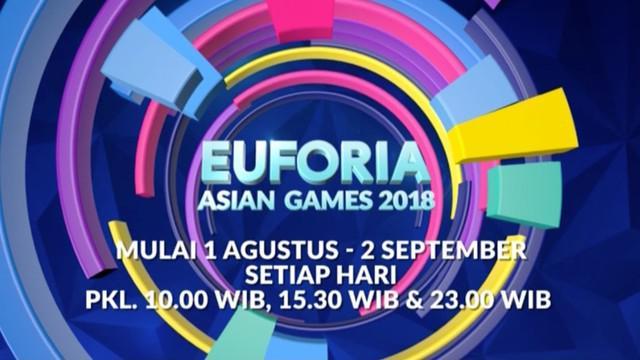 Berita video promo tentang Euforia Asian Games 2018 yang akan dimulai 1 Agustus sampai dengan 2 September setiap harinya di Indosiar.