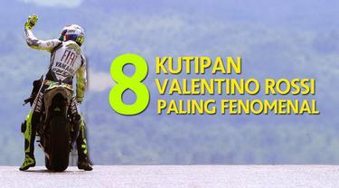Video 8 kutipan tentang Valentino Rossi yang paling fenomenal di MotoGP sepanjang karirnya.