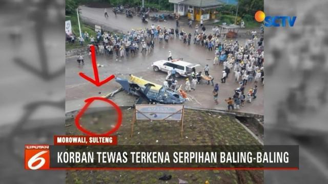 Kementerian Perhubungan menyatakan akan menyelidiki penyebab jatuhnya helikopter di Morowali, Sulawesi Tengah. Satu korban tewas karena tertimpa helikopter.