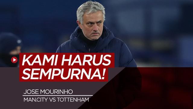 Berita video konferensi pers Jose Mourinho jelang Tottenham Hotspur Vs Manchester City Minggu dini hari nanti (14/2/21)