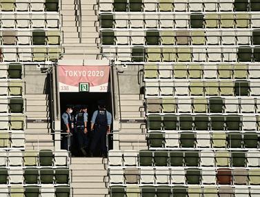 FOTO: Pengamanan Jelang Upacara Pembukaan Olimpiade Tokyo 2020