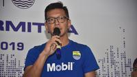 Teddy Tjahjono saat menghadiri konferensi pers kemitraan PERSIB dengan Exxon Mobil (Foto: Media Persib)