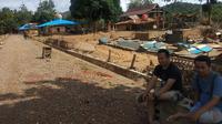 Desa Tapuwatu, Kecamatan Asera, Kabupaten Konawe Utara yang hilang usai banjir Konawe Utara.(Liputan6.com/Ahmad Akbar Fua)